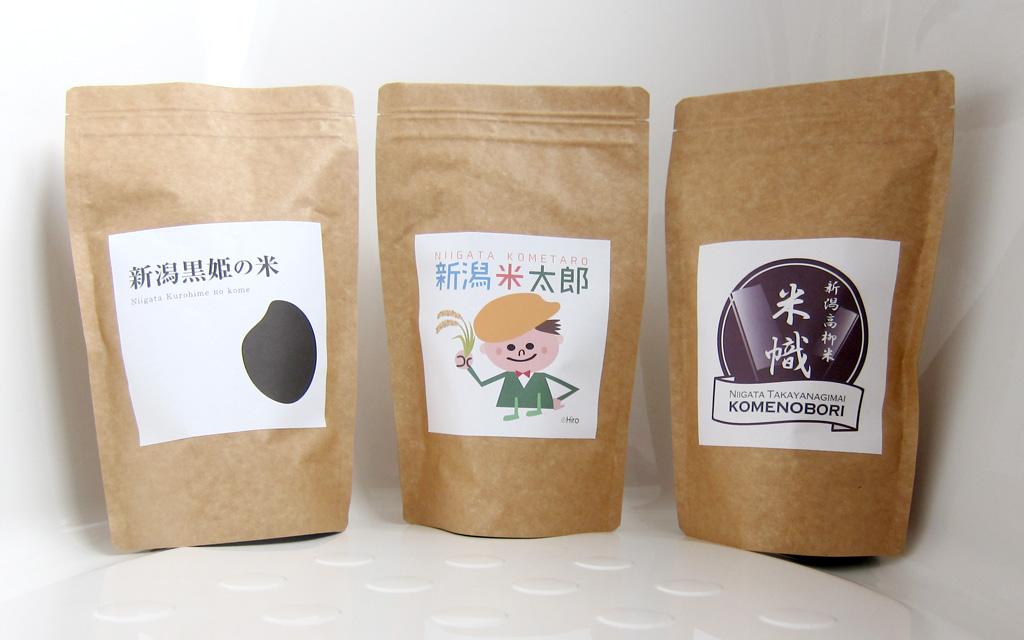 新潟の米商品パッケージ